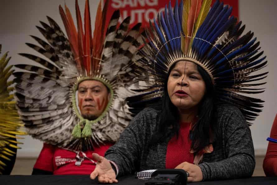 Sônia Guajajara is the head of Brazil's largest indigenous organization.