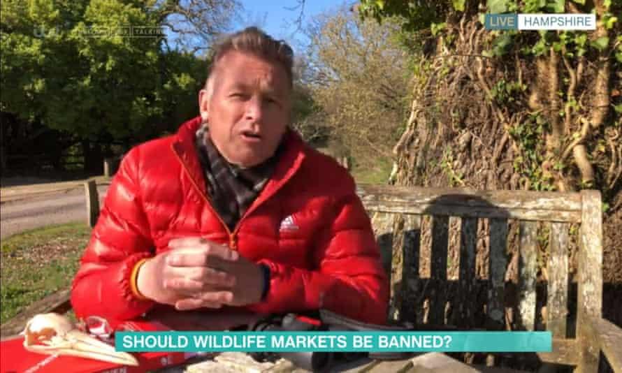 Chris Packham presenting This Morning on ITV.