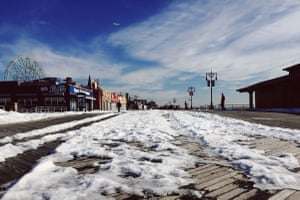 Coney Island - NYCAfter the snow storm two weeks ago