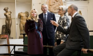 Julia and Hans Rausing with Rebecca Salter and Christopher Le Brun of the RA