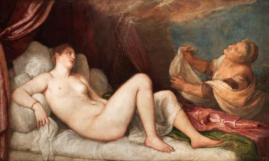 Danae by Titian at the National Gallery.