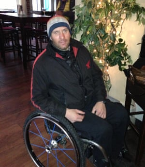 Disabled dating on Tinder       People ask if I can have sex        Life     The Guardian Andy Trollope     s Tinder profile picture