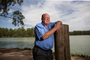 The deputy Mayor of Wentworth Shire Tim Elstone at the juction of the Murray and Darling rivers in Wentworth
