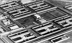 An aerial view of the Maze prison in 1983.