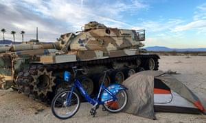 CA - Chiriaco Summit camping behind Patton Museum