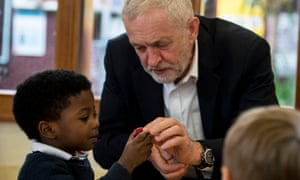 Jeremy Corbyn visits a Sure Start centre