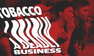 High school students smoke cigarettes in Bogor, Indonesia.