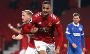 Manchester United's Mason Greenwood celebrates.
