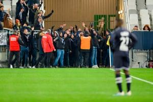 Bordeaux fans getting on it.