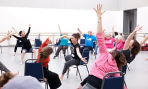 A dance for Parkinson's class led by dancer and choreographer Monica Gillette (pictured centre)