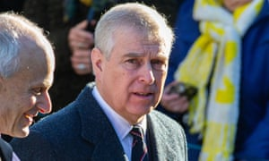 Prince Andrew on 19 January 2020.