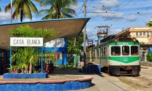 The Hershey train runs along Cuba's north coast from Casa Blanca to Matanzas.
