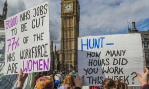 NHS strike march