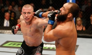 Georges St-Pierre, left, one of the members of the MMAAA, said: 'It's time for us to make our voice heard and make change happen for the best of the UFC and fighters.'