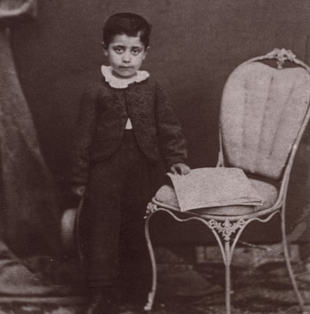 Mahler as a child, circa 1865.