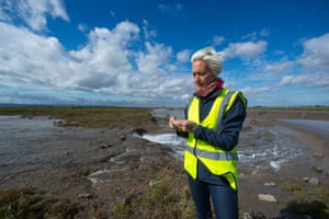 Alys Laver, site manager at Steart Marshes, near Bridgwater, Somerset
