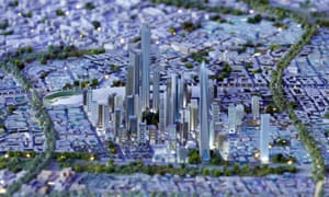 A model of the planned new capital at the Egypt Economic Development Conference in March 2015.