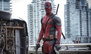 Movie marvel: Reynolds as Deadpool in the film of the comic book.