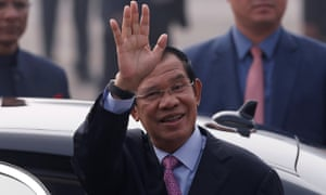 The Cambodian prime minister, Hun Sen
