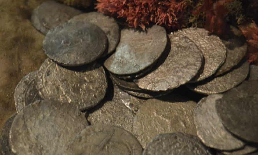 Rijksdaalder silver coins recovered from the wreck site of the Batavia off the coast of Western Australia