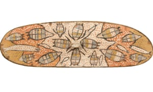 Fish and turtles adorn a Yidindji shield
