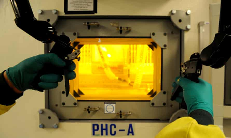 Radioactive material at the Opal nuclear research reactor at Lucas Heights in Sydney.