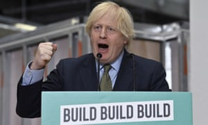 Boris Johnson delivers a speech during a visit to Dudley College of Technology in Dudley, England, Tuesday June 30, 2020.