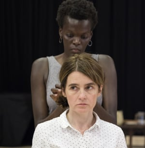 Sheila Atim and Shirley Henderson in rehearsals for Girl from the North Country.