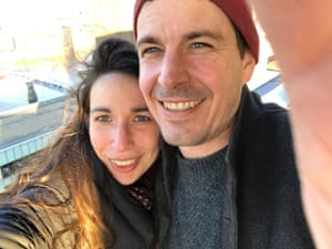 Katy Marks and her husband