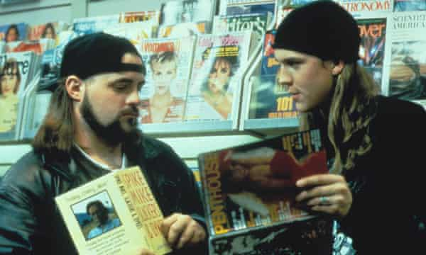'It's called Merch': Kevin Smith and Jason Mewes in Mallrats.