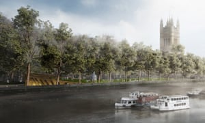 Artist's impression of the winning design for the Holocaust memorial in Westminster, London