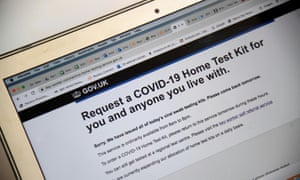 UK government's website to book coronavirus disease home test kits
