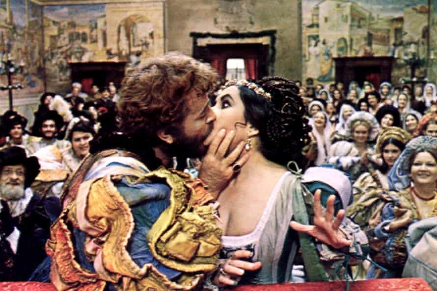 Richard Burton and Elizabeth Taylor in Franco Zeffirelli's 1969 film version of The Taming of the Shrew.