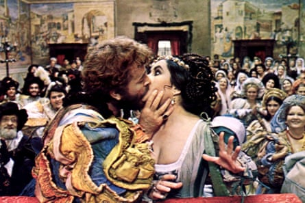 Richard Burton and Elizabeth Taylor in Franco Zeffirelli's 1969 film version of The Taming of the Shrew.