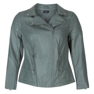 M&S Curve faux-leather jacket, £59.