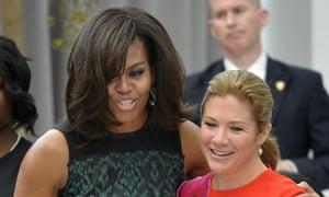 Michelle Obama and Sophie Grégoire Trudeau