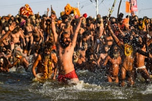 About 22.5 million Hindus took the plunge on the first day of the Kumbh Mela.