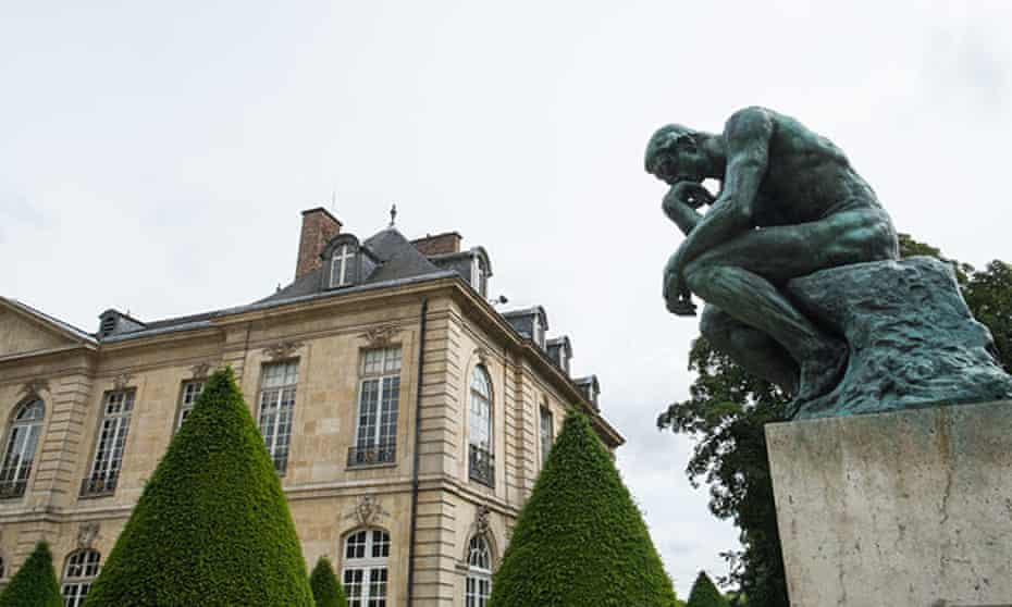 The Thinker on display at gardens of Rodin Museum, Paris, France.