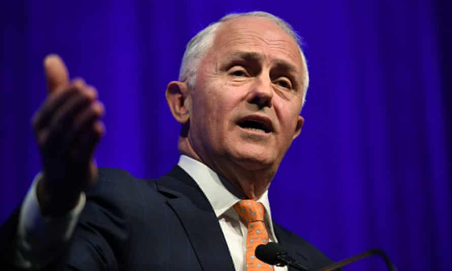 Prime minister Malcolm Turnbull speaks at the 60th Federal Council of the Liberal Party in Sydney on Saturday.