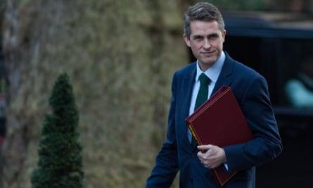 The defence secretary, Gavin Williamson.
