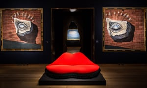 The Mae West Lips Sofa by Salvador Dali and Edward James.