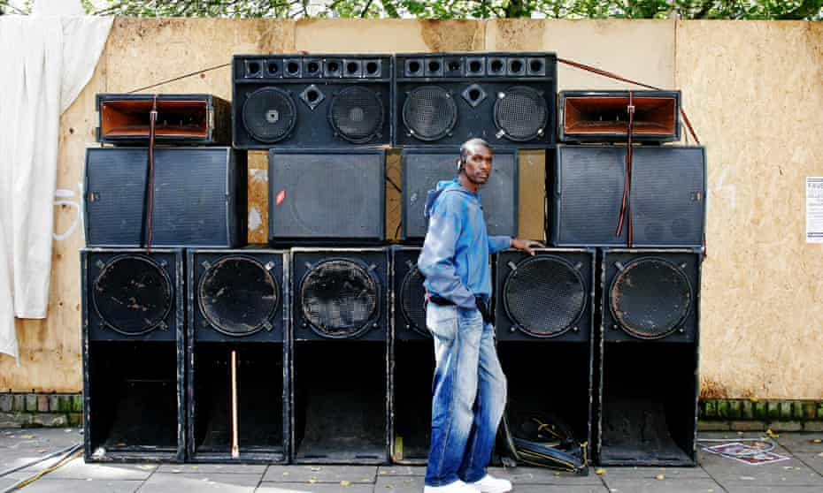 Speakers corner ... Nasty Love sound system at carnival