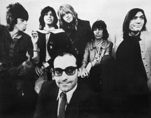 A cutting from the Observer magazine, 17 November 1968, showing Jean-Luc Godard and the Rolling Stones. The originals are now lost.