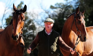 Colin Tizzard with Thistlecrack and Cue Card