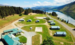 Lake Waitaki village in Canterbury, New Zealand is up for sale.