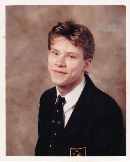 Robert WEbb's school prtrait aged 17, around the time of his mother's death