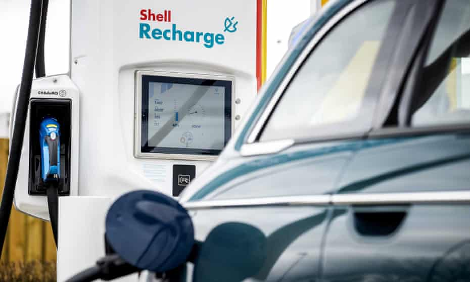 Shell electric vehicle charge point