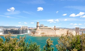 Marseille's Fort St Jean and (on the left) the new Museum of Mediterranean Culture