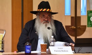 Labor senator Pat Dodson at a hearing in Parliament House, Canberra