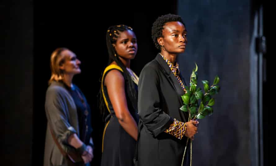Adeola Yemitan (front) with Emma Dewhurst and Francesca Amewudah-Rivers.